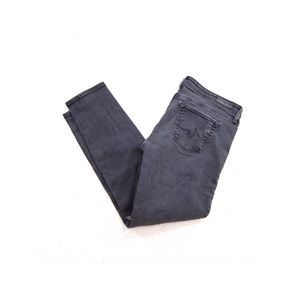 AG The Stevie Ankle Slim Distressed Charcoal 29